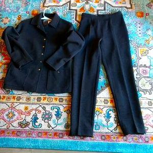 Salvatore Ferragamo Suit Blazer & Pants wool sz 8
